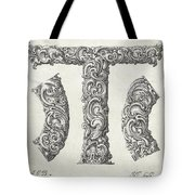 Decorative Letter Type T 1650 Tote Bag