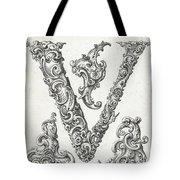 Decorative Letter Type V 1650 Tote Bag
