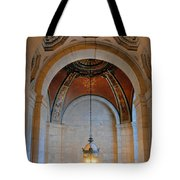 Decorative Light At The New York Public Library Tote Bag