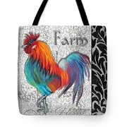 Decorative Rooster Chicken Decorative Art Original Painting King Of The Roost By Megan Duncanson Tote Bag