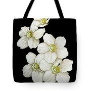 Decorative White Floral Flowers Art Original Chic Painting Madart Studios Tote Bag