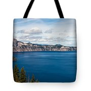 Deep Blue Crater Lake Tote Bag
