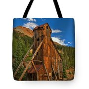 Deep Blue Over Historic Silver And Gold Tote Bag