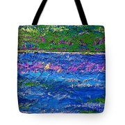 Deep Blue Texture Abstract Tote Bag