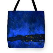 Deep Blue Triptych 2 Of 3 Tote Bag