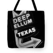 Deep Ellum Black And White Tote Bag