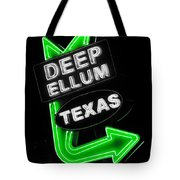 Deep Ellum In Green Tote Bag