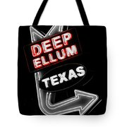 Deep Ellum In Red Tote Bag