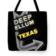 Deep Ellum In Yellow Tote Bag