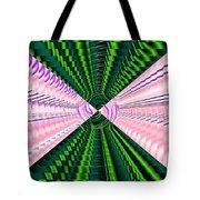 Deep Green And Pink Tote Bag