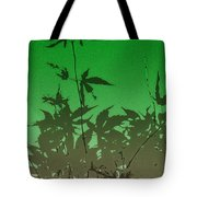 Deep Green Haiku Tote Bag