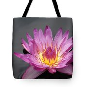 Deep Pink With Yellow... Tote Bag