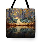 Deep Pond Reflections Tote Bag