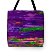 Deep Purple Horizontal Tote Bag