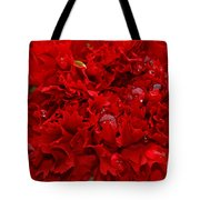 Deep Red Carnation Tote Bag