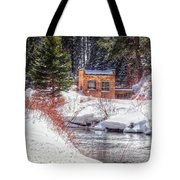 Deep Snow In Spearfish Canyon Tote Bag