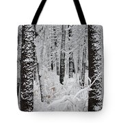 Deep Snow In The Forest Tote Bag