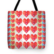 Deeply In Love Cherryhill Flower Petal Based Sweet Heart Pattern Colormania Graphics Tote Bag