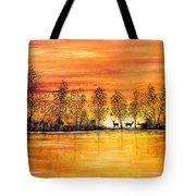 Deer At Sunset Tote Bag