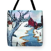 Deer At The Grist Mill Tote Bag