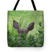 Deer Ear In A Mint Patch Tote Bag