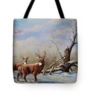 Deer In Crete Tote Bag
