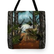 Deer In Pine Forest Tote Bag