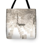 Deer In Snow Tote Bag