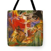 Deer In The Forest 1913 Tote Bag