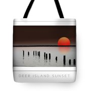 Deer Island Sunset Poster Tote Bag