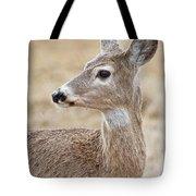White Tail Deer Profile Tote Bag