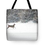 Deer Running Tote Bag