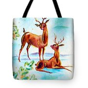 Deers Break Tote Bag