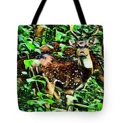Deer's Green Day Tote Bag