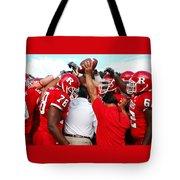 Defensive Huddle Tote Bag