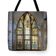 Defiant Stain Glass Church Window #1 Tote Bag