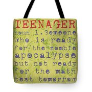 Definition Of Teenagers Tote Bag