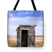 Defunct Outhouse At Rural Elementary School Tote Bag