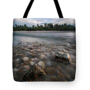 Defying The Flow Tote Bag by Davorin Mance