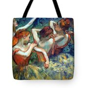 Degas' Four Dancers Up Close Tote Bag