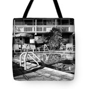 Del Marcos Pool Bw Palm Springs Tote Bag