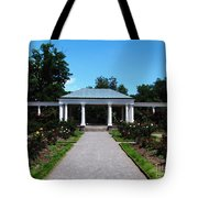 Delaware Park Rose Garden And Pergola Buffalo Ny Oil Painting Effect Tote Bag