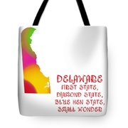Delaware State Map Collection 2 Tote Bag
