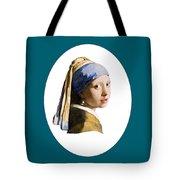 Delft Blue Flip Side Tote Bag
