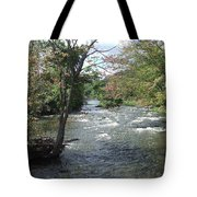 Delhi Rapids From The Bridge Tote Bag