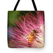 Delicate Embrace - Bee And Mimosa Tote Bag