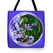 Delicate Flowers Orb Tote Bag