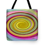 Delicate Pink Twirl Tote Bag