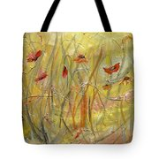 Delicate Poppies Tote Bag