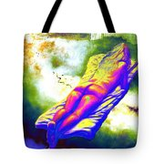 Delicious Babe Engulfed In Books Tote Bag